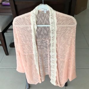 Very light weight sweater... light peach